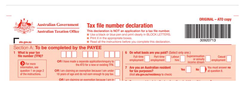 khai thuế tại úc