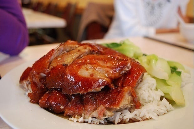 Your roast duck rice cravings can be satisfied at Minh Xuong, open till late. Photo: Alpha via Flickr