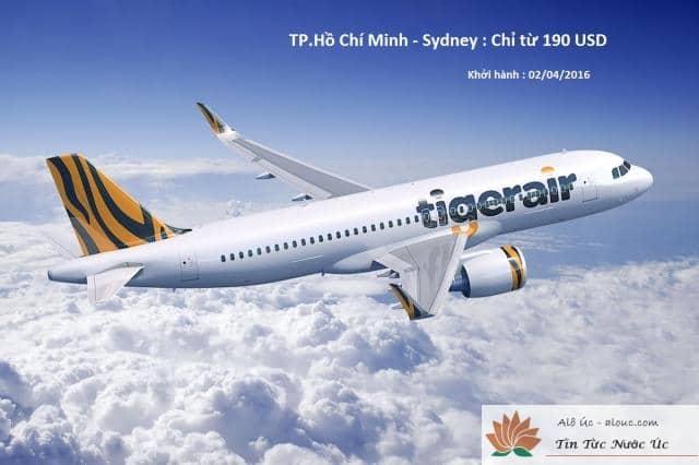 Tiger Air khuyến mại vé đến sydney trong tháng 4 này với giá chỉ 190 USD
