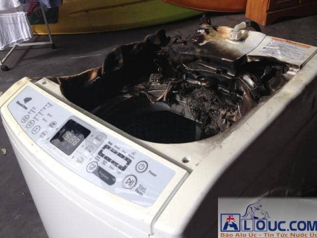 cháy nổ máy giặt