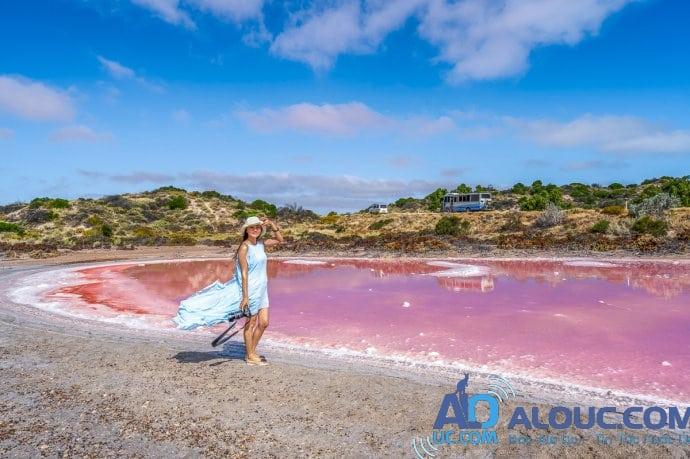 Biển hồng lãng mạn ở Úc khiến chị em mê mẩn - 1