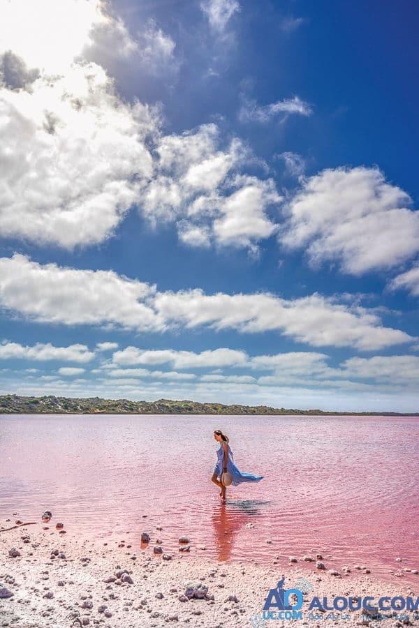 Biển hồng lãng mạn ở Úc khiến chị em mê mẩn - 2