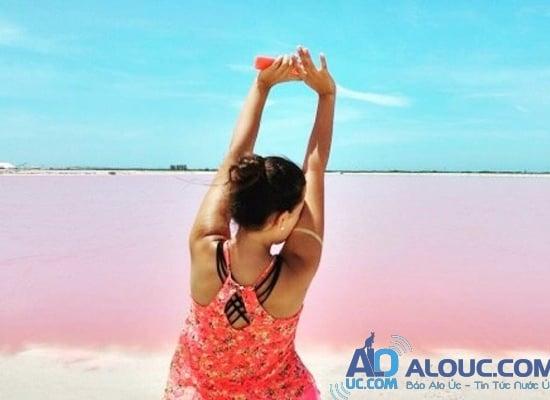 Biển hồng lãng mạn ở Úc khiến chị em mê mẩn - 9