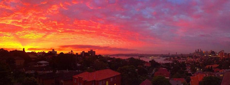 Sydney: Đắm mình trong khung cảnh bình minh đẹp rạng rỡ trước bão lớn - ảnh 2