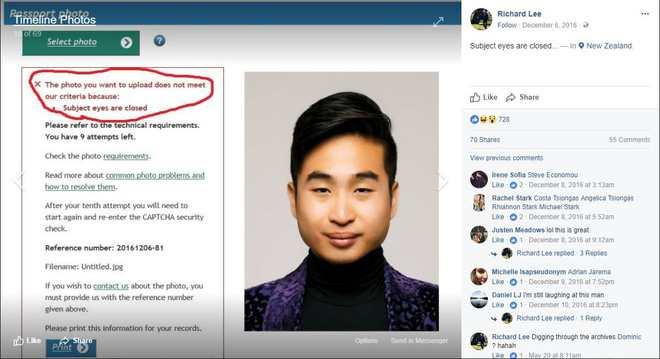 Hài hước máy móc từ chối ảnh hộ chiếu vì Mắt người châu Á mở quá bé, ảnh như đang nhắm mắt - Ảnh 3.