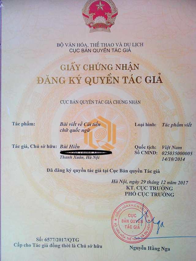 Công trình cải tiến tiếng Việt được đăng ký bản quyền - Ảnh 1.