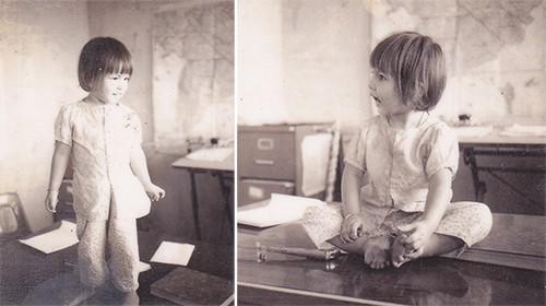Mỹ Hương vàonăm khoảng 4 tuổi.