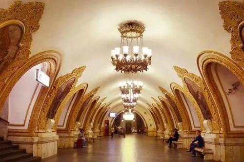 Ga tàu điện ngầm ở Nga, nơi du khách Trung Quốc tới xem World Cup có thể tự tin quẹt điện thoại thanh toán.