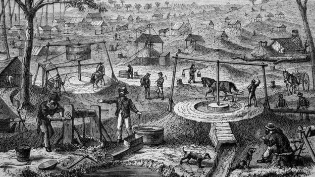 Nhiều người Trung Quốc đầu tiên tới Australia là để đào vàng ở thế kỷ 19.
