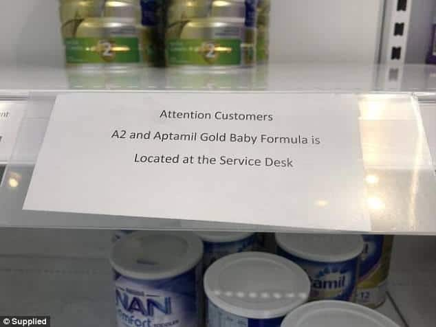 The sign in Coles
