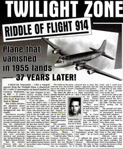 TờWeekly World News đưa tin về sự mất tích của máy bay. Ảnh: Hoaxorfact.