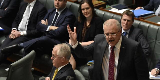 Ông Morrison phát biểu tại một cuộc họp (Ảnh: AFP)