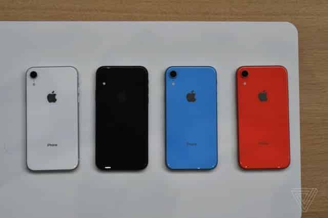 Các phiên bản màu sắc khác nhau của iPhone XR
