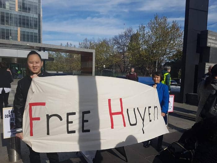 Paul Lee - Huyen's husband - in a campaign to free her
