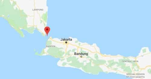 Vị trí eo biển Sunda. Đồ họa: Google maps.