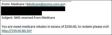 Scammers are sending email messages pretending to be from Medicare