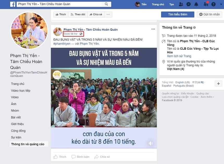 Facebook tiep tay cho quang cao me tin di doan o VN hinh anh 2