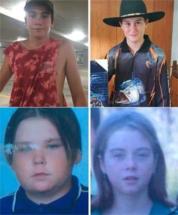 4 đứa trẻ trộm xe của gia đình, bỏ trốn tối 13/7. Ảnh: Grafton Police